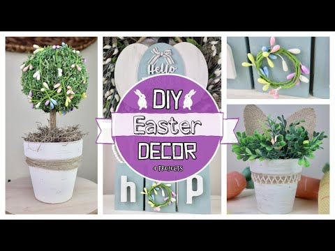 DIY Easter Decor Ideas | 4 EASY & BUDGET Friendly Projoects