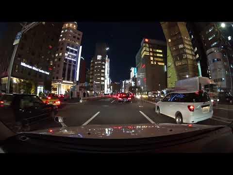 Tokyo evening drive 4K 2017 豊洲 青山