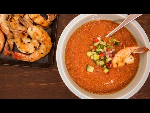 Macho Gazpacho With Margarita Shrimp