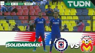 ¡Solidarios! Cruz Azul y Morelia, un minuto sin jugar | Liga Mx - AP 19 - J 14 | TUDN
