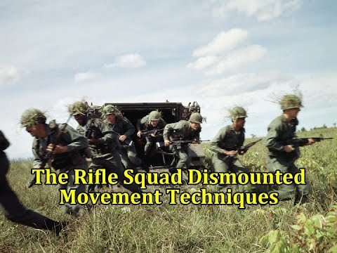 The Rifle Squad Dismounted Movement Techniques | Vintage US Army Film