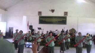 Senam Senjata oleh ibu-ibu Persit Kartika Candra Kirana