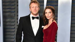 Emily Ratajkowski y su marido Sebastian Bear-McClard en la fiesta de Vanity Fair 2018