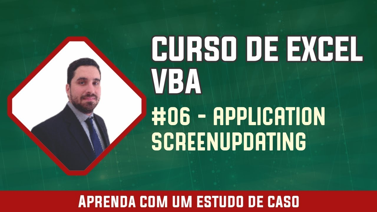 excel vba 06 application screenupdating youtube