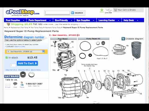 How To Use Epoolshop Pool Parts Diagrams Youtube