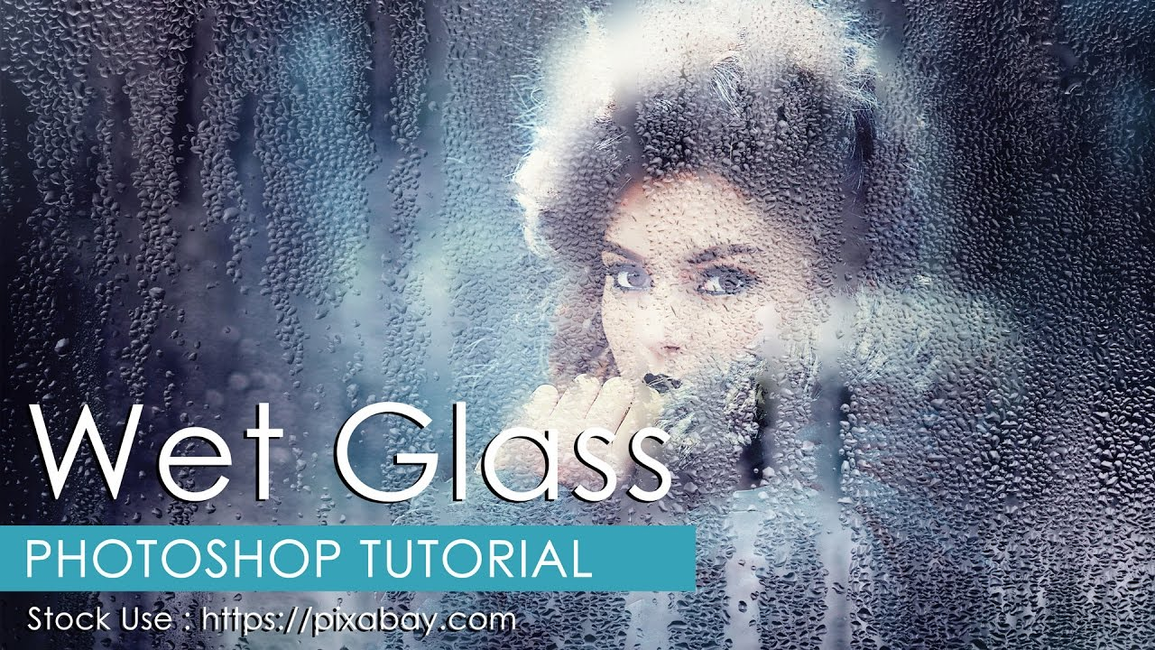 how to add a glass effect in photoshop