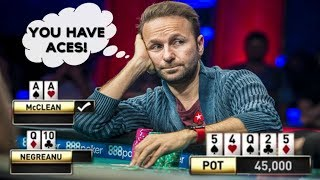 MOST AMAZING DANIEL NEGREANU POKER READS EVER!