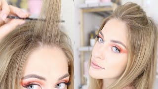 как сделать начес на длинные волосы самой себе