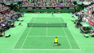 Novak Djokovic vs Roger Federer (Virtua Tennis 4 - PC Gameplay)