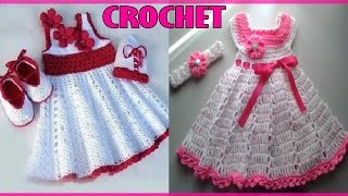 Repeat youtube video Vestidos Para Niña Bebe - Tejidos a Crochet