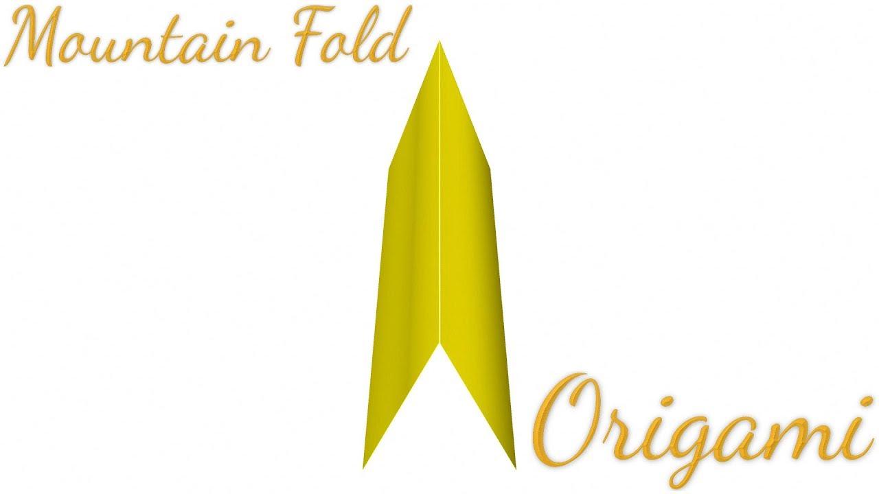 Mountain Fold In Origami Folding Technique Youtube