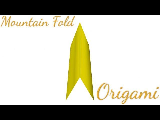 Mountain Fold In Origami Folding Technique Youtubedownloado