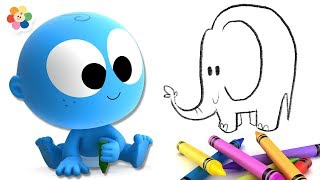 Drawing and Coloring with Goo Goo Baby and Magic Crayons | Educational Videos for Kids by BabyFirst