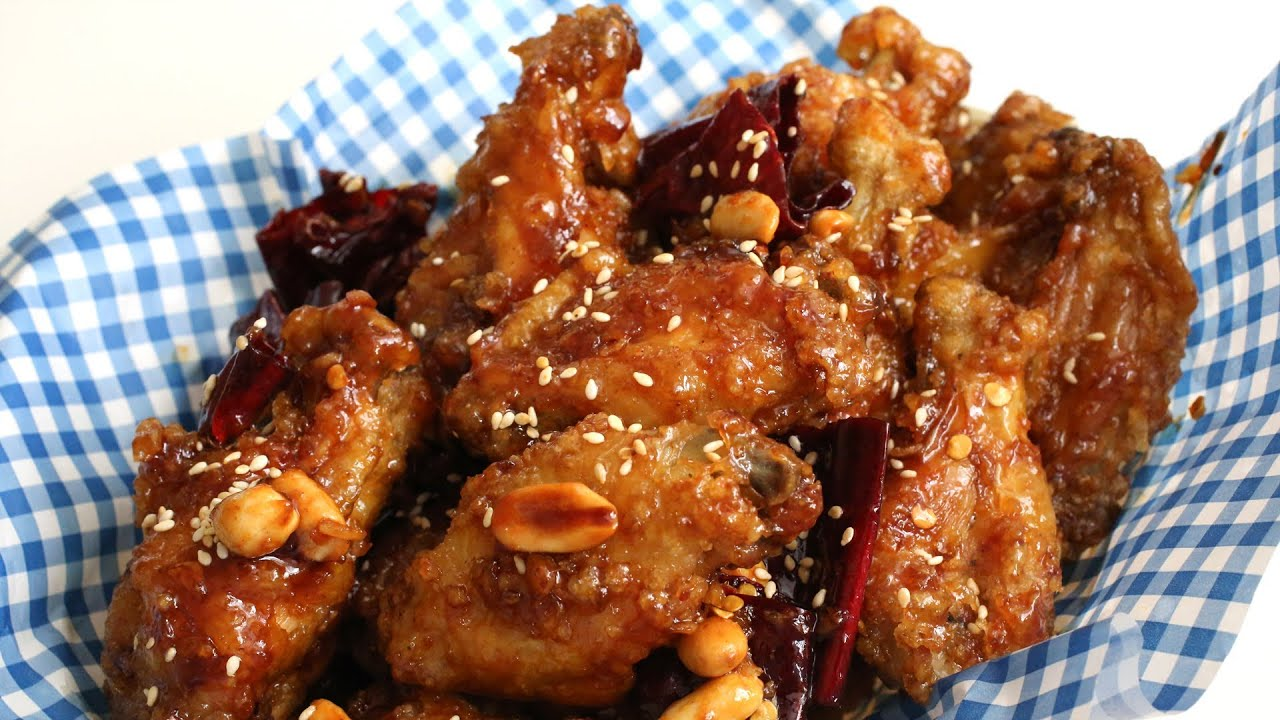 Crunchy korean fried chicken recipe dakgangjeong youtube forumfinder Image collections