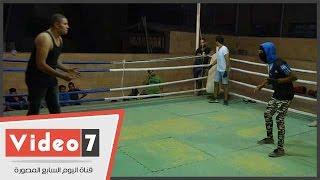 """بالفيديو..عبد الرحمن وسمير شابان عشقا المصارعة الحرة:"""" نفسنا نبقى أبطال للعالم"""""""