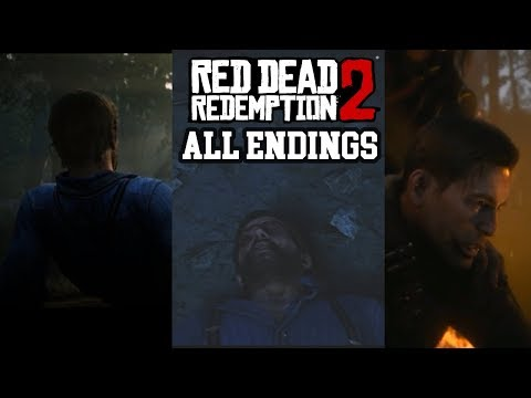 All Four Endings Red Dead Redemption 2  Two Bad And Two Arthur Morgan Death