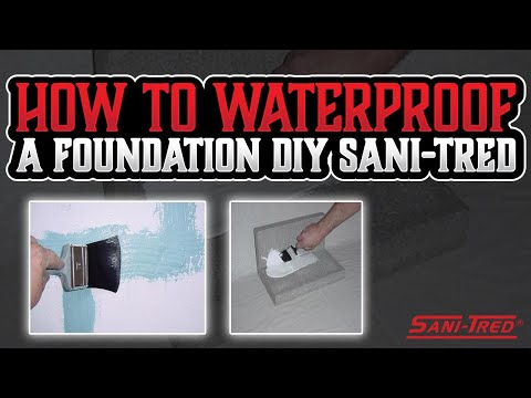 How to Waterproof Basement Walls from Inside | SANI-TRED