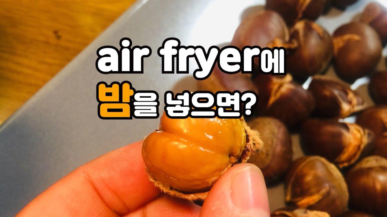 空氣炸鍋 烤栗子 에어프라이어 2.군밤 진짜 되네요!_ chestnut with air fryer cooking recipe - YouTube