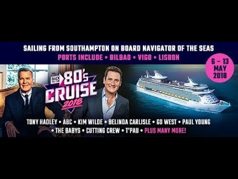 Back To The 80's Cruise May 2018 - Starring Go West INTERVIEW / Kym Wilde / Sara Cox / T'Pau / ABC