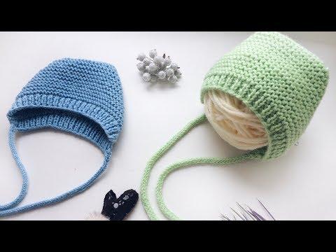 Как связать шапку для новорожденного