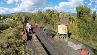 C&TSRR = Aerial = 489 arrives in Chama