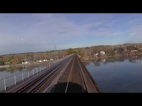 Hudson River Railroad Bridge Crossing from Back of Train - Mechanicville to Schaghticoke, NY