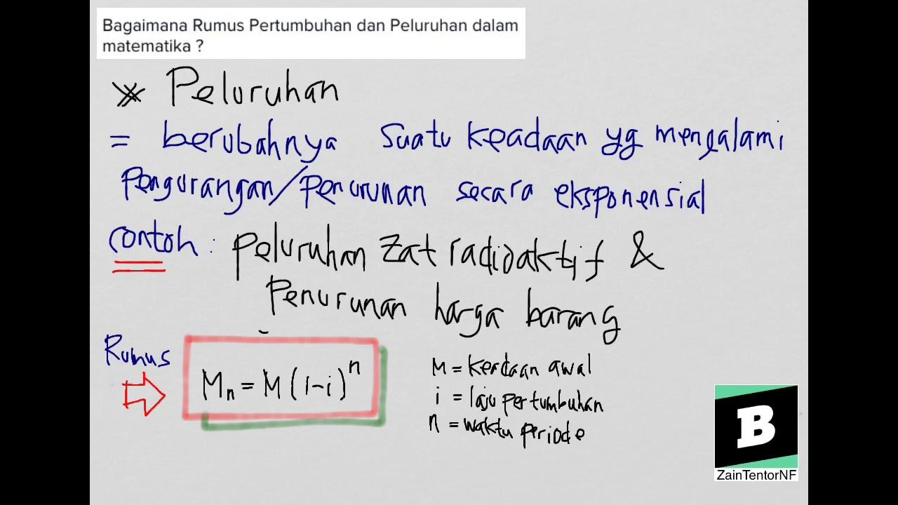 Bagaimana Rumus Pertumbuhan Dan Peluruhan Dalam Matematika Youtube