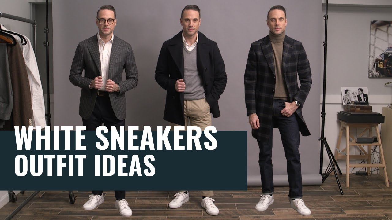 5 Ways To Style White Sneakers | How To Wear White Sneakers | Winter Outfit Ideas