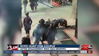 Couple drops engagement ring down grate during proposal in NYC