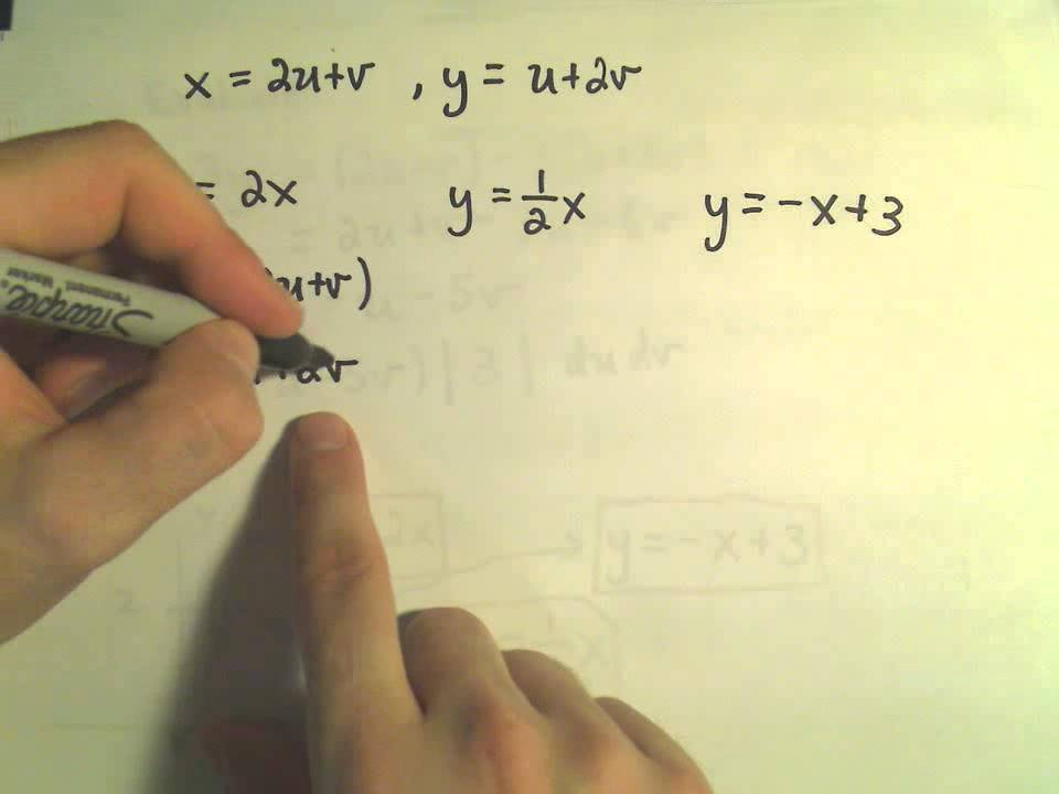 Change of Variables in Multiple Integrals - A Double Integral Example, Part  1 of 2