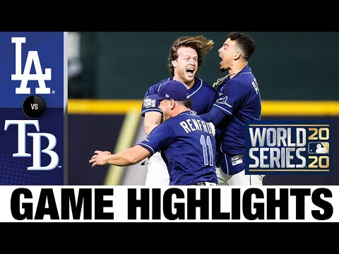 Rays cap rollercoaster World Series Game 4 with crazy walk-off | Dodgers-Rays Game 4 Highlights - Видео онлайн