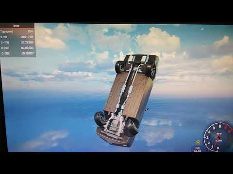 Dodge charger free fall from speed track - Car Simulator 2018