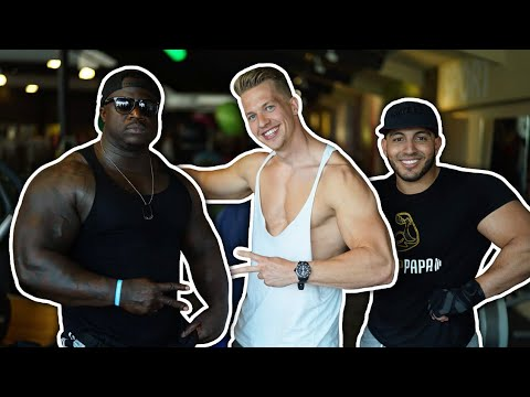 MIGIBOSS, MOBICEP & ANTHONY KRUIJVER IN 1 GYM! *HEAVY WEIGHTS*
