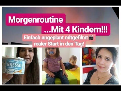 Unsere Morgenroutine Mit 4 Kindern| Baby| Kleinkind| Schulkind| Mama Alltag & Haushalt