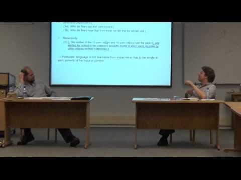 Nativism vs. Empiricism in Studying Language (Part 5): SAMWOP 3 Debate