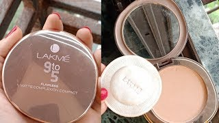 Lakme 9 To 5 Flawless Matte Complexion Compact Review | LAKME