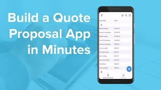 Build a Quote Proposal Mobile App in Minutes from Google Sheets screenshot 5