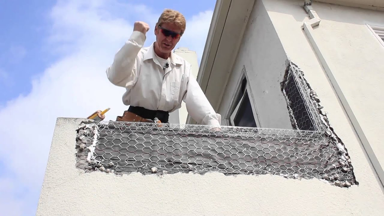 Explanations Of Parapet And Scupper Damages On Stucco