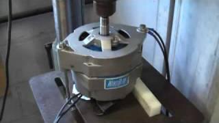 Wind blue alternator testing