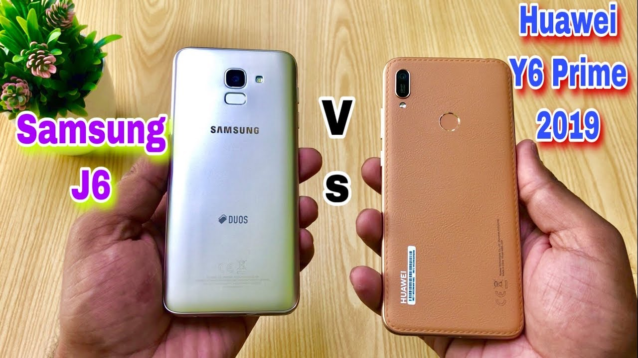 Huawei Y6 Prime 2019 vs Samsung J6 - Speed Test, Camera & Full Comparison  [Urdu&Hindi]