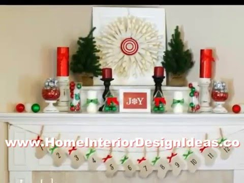 cool ideas christmas decorations fireplace mantel youtube