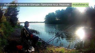 Рыбалка в Шатуре на канале. Прогулка у речки Нерская.