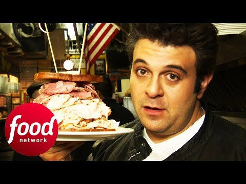 Can Adam Crush This Colossal Cold Cut Sandwich Challenge In Under An Hour? | Man V Food