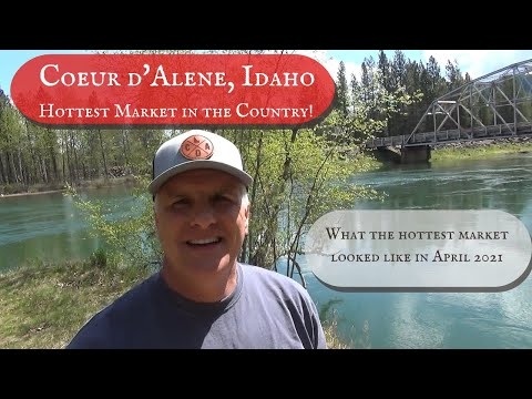 Coeur d'Alene Idaho is hottest real estate market in the US and what that looked like in April 2021