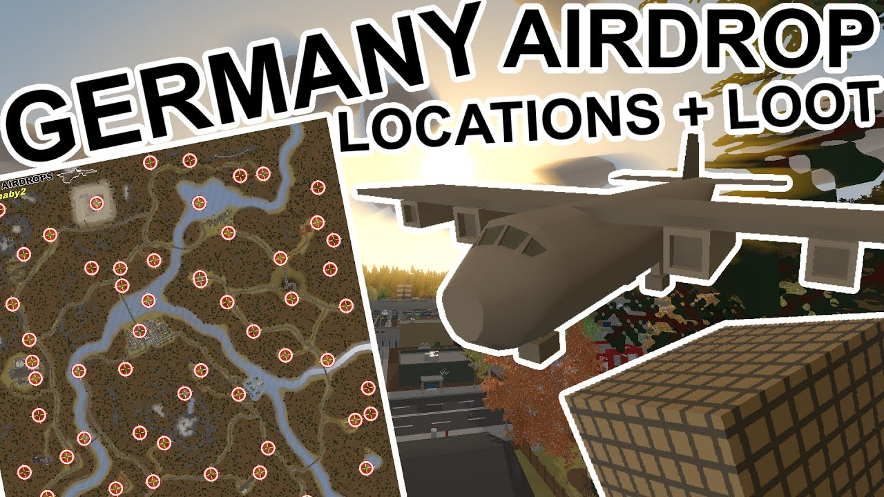 Unturned All Germany Airdrop Locations Loot YouTube - Berlin map unturned