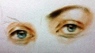 Как нарисовать ГЛАЗА СУХОЙ КИСТЬЮ! Учимся рисовать ГЛАЗА! Как Научиться РИСОВАТЬ