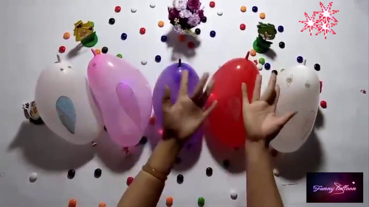 Funny balloon faces -  5 Wet Balloons Faces Top Learn Colours Water Balloon Finger Funny Balloon