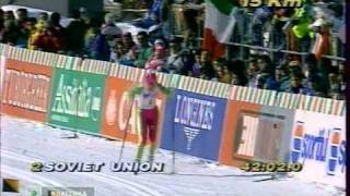 1991 WSC Val di Fiemme Rel 4x5 km M SOV ITALY NORWAY