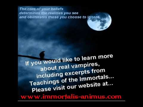 Real Vampires, Immortality, Gothic, Pagan, Eternal Life, Poetry