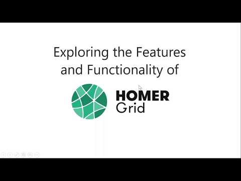 Exploring HOMER Grid:  United States Example - 4/3/18